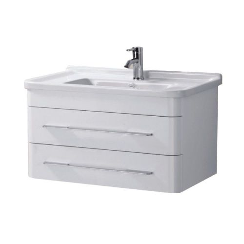 Eclipse 800mm Wall Hung Cabinet & Basin - 1 Tap Hole